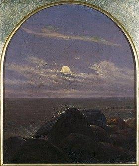 Carl Gustav Carus: Meeresküste im Mondschein