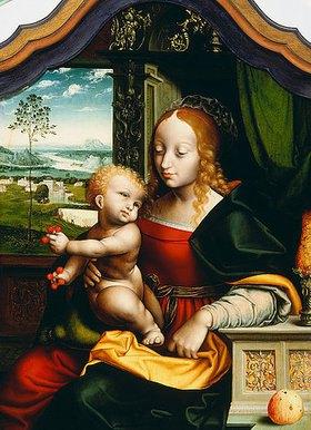 Joos van Cleve: Madonna mit den Kirschen