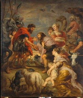 Peter Paul Rubens: Versöhnung Esaus und Jacobs