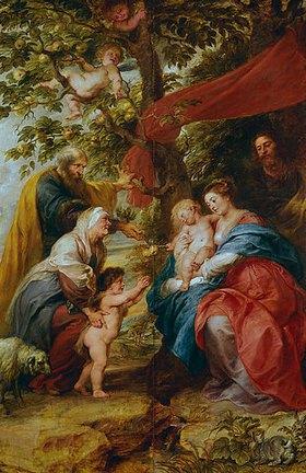Peter Paul Rubens: Die hl. Familie unter dem Apfelbaum. Ehem.Flügelaußenseite d.Ildefonso-Altars