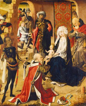 Meister d.Bartholomäus-Altars: Anbetung der Hl. Drei Könige