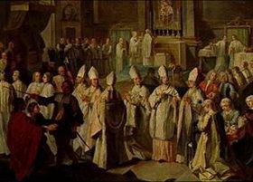 Georg Desmarées: Die Bischofsweihe des Kurfürsten Clemens August durch Benedikt XIII