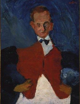 Chaim Soutine: Der Kellner. (Le garçon d'étage). Zwischen 1922 und