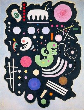Wassily Kandinsky: Komposition auf dunklem Grund