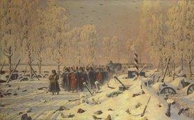 Wassili Werestschagin: Rückzug der napoleonischen Truppen aus Russland