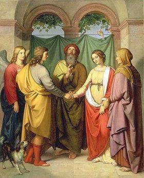 Eduard Ihlée: Die Vermählung des Tobias mit Sarah