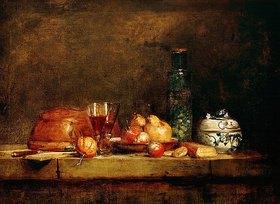 Jean-Baptiste Siméon Chardin: Stilleben mit Früchten und Olivenglas