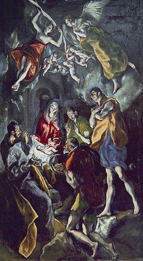 Greco El (Dominikos Theotokopoulos): Die Anbetung der Hirten