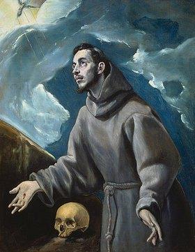 Greco El (Dominikos Theotokopoulos): Der hl. Franziskus empfängt die Stigmata