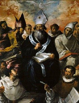 Francisco de Herrera d.Ä.: Der hl.Basilius diktiert seine Lehre