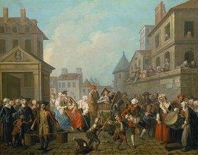 Etienne Jeaurat: Karneval in den Strassen von Paris