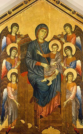 Cimabue (Cenni di Pepo): Thronende Madonna, umgeben von sechs Engeln