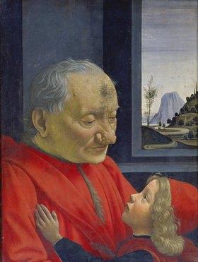 Domenico(T.Bigordi) Ghirlandaio: Bildnis eines Greises und eines Knaben