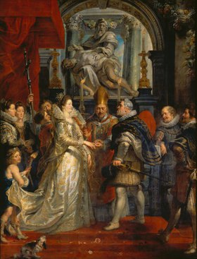 Peter Paul Rubens: Medici-Zyklus: Die Hochzeit per Prokuration, 5. Oktober