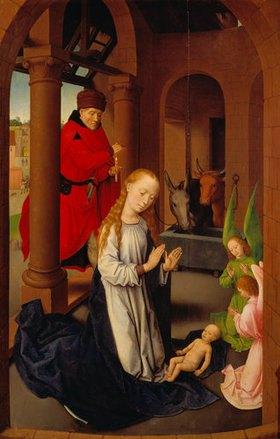 Hans Memling: Dreikönigsaltar. Innenseite des rechten Flügels: Geburt Christi
