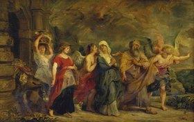 Peter Paul Rubens: Lot verlässt mit seiner Familie das brennende Sodom