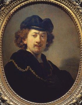 Rembrandt van Rijn: Selbstbildnis mit Barett und goldener Kette