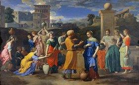 Nicolas Poussin: Rebecca und Elieser