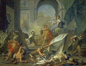 Jean Marc Nattier: Perseus und Minerva lassen Phineus durch das Medusenhaupt versteinern
