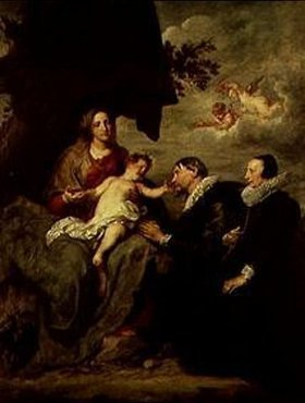 Anthonis van Dyck: Madonna mit Stifterehepaar