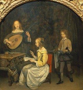 Gerard ter Borch: Gesang und Lautenspiel