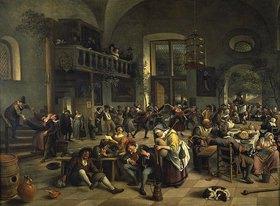 Jan Steen: Tanzvergnügen in einem grossen Wirtshaus