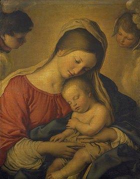 Giovanni Battista (Sassoferrato) Salvi: Maria mit dem schlummernden Jesuskind