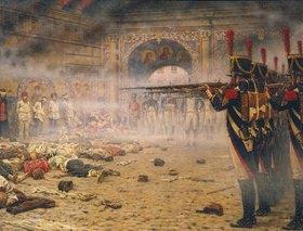 Wassili Werestschagin: Nach der Eroberung Moskaus durch Napoleon: Erschiessung Aufständischer