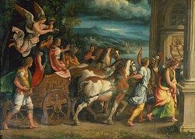 Giulio Romano (Giulio Pippi): Der Triumphzug der römischen Kaiser Titus und Vespasian