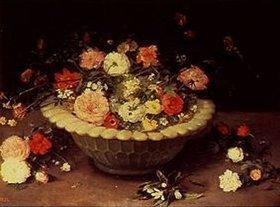 Jan Brueghel d.Ä.: Blumen in einer Schale