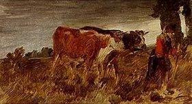 Wilhelm Busch: Bäuerin mit Kühen