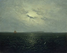 Carl Gustav Carus: Mondnacht bei Rügen