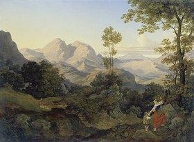 Ernst Fries: Römische Gebirgslandschaft