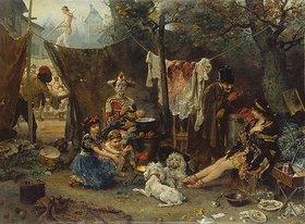 Ludwig Knaus: Hinter dem Vorhang