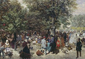 Adolph von Menzel: Ein Nachmittag im Tuileriengarten