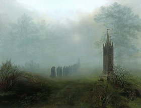 Ernst Ferdinand Oehme: Prozession im Nebel