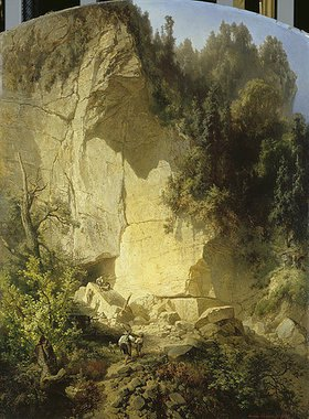 Ernst Ferdinand Oehme: Steinbruch in der Sächsischen Schweiz