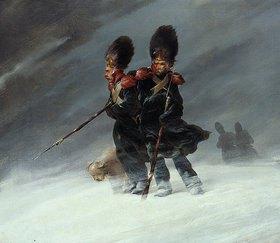 Ferdinand von Rayski: Grenadiere im Schnee