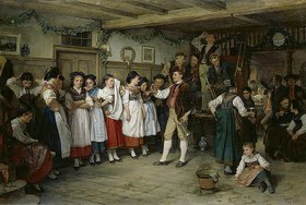 Benjamin Vautier: Tanzpause bei einer elsässischen Bauernhochzeit