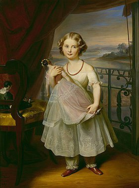 Carl Christian Vogel von Vogelstein: Bildnis einer sächsischen Prinzessin mit ihrer Puppe