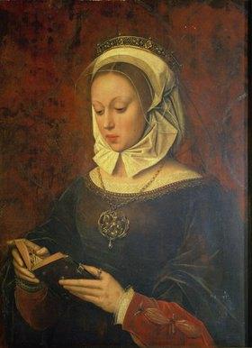 Ambrosius Benson: Junge Frau, in einem Gebetbuch lesend