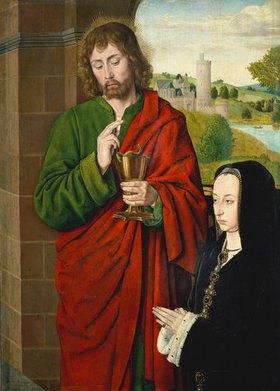 Jean (Meister von Moulins) Hey: Anne de Beaujeu, Herzogin von Bourbon, und Johannes der Evangelist