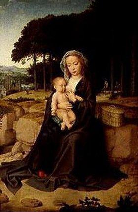 Gerard David: Maria mit dem Kinde bei der Ruhe auf der Flucht nach Ägypten