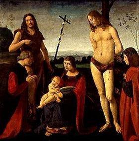 Giovanni Boltraffio: Maria mit dem Kind, sowie den hll. Johannes d.Täufer, Sebastian und