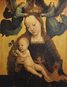 Gerard David: Die Jungfrau mit dem Kinde wird von Engeln gekrönt
