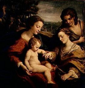 Correggio (Antonio Allegri): Die mystische Vermählung der H.Katharina von Alexandrien