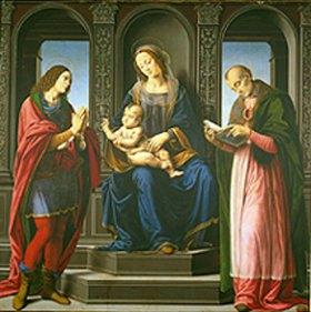 Lorenzo di Credi: Die Madonna mit den hll.Julian und Nikolaus von Myra