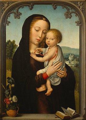 Gerard David: Maria mit dem Kinde in einer Fensteröffnung