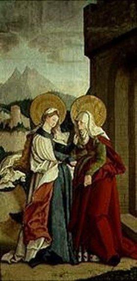 Meister von Messkirch: Die Begegnung von Maria und Anna