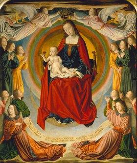 Jean (Meister von Moulins) Hey: Die Jungfrau mit dem Kinde und Stiftern